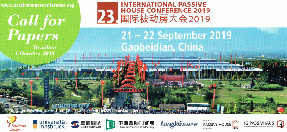 INTERNATIONAL PASSIVE HOUSE CONFERENCE 2019