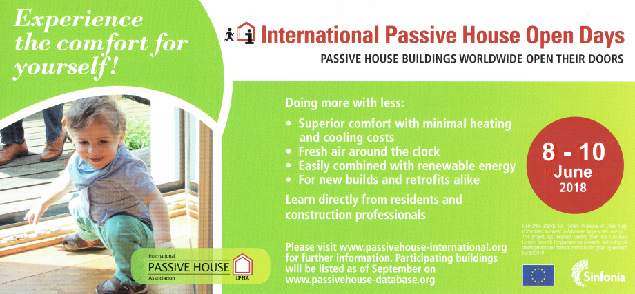 International Passive House Open Days 2018   -   8/10 Giugno 2018